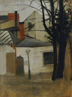 Small Houses near Berlin | Oskar Schlemmer | Oil Painting