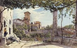 Villa Malta in Rome | Franz Ludwig Catel | Oil Painting