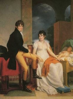 Count Moritz von Fries and his family | Francois Gerard | Oil Painting