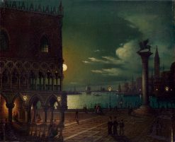 Moonlight view of the Piazzetta