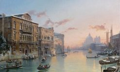 A Winter View of the Grand Canal