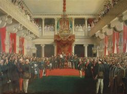 The opening of the Finnish parliament session 1863 by Alexander II | Robert Wilhelm Ekman | Oil Painting
