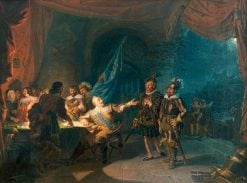 Gustav II Adolf having a war negotiation in Wurtzburg