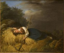 A Resting Harvest Girl | Robert Wilhelm Ekman | Oil Painting