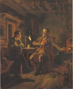 Fanrik Stal with Student | Robert Wilhelm Ekman | Oil Painting