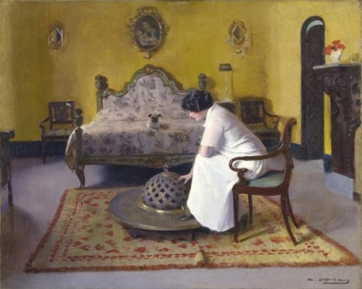 Interior with Julia | Ramon Casas y Carbó | Oil Painting