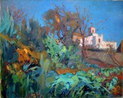 Landscape   Joaquin Mir  Trinxet   Oil Painting