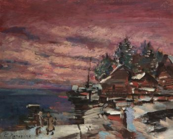 Village in Winter | Constantin Alexeevich Korovin | Oil Painting