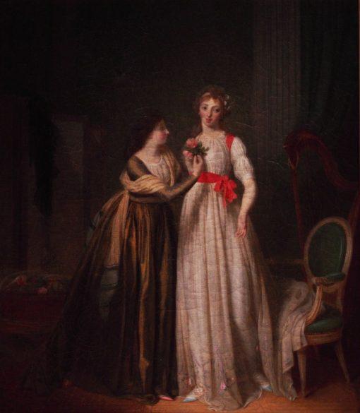 Two Friends   Jean-Simon Fournier   Oil Painting