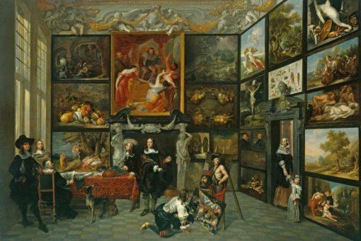A Cabinet of Pictures | Jacob de Formentrou | Oil Painting