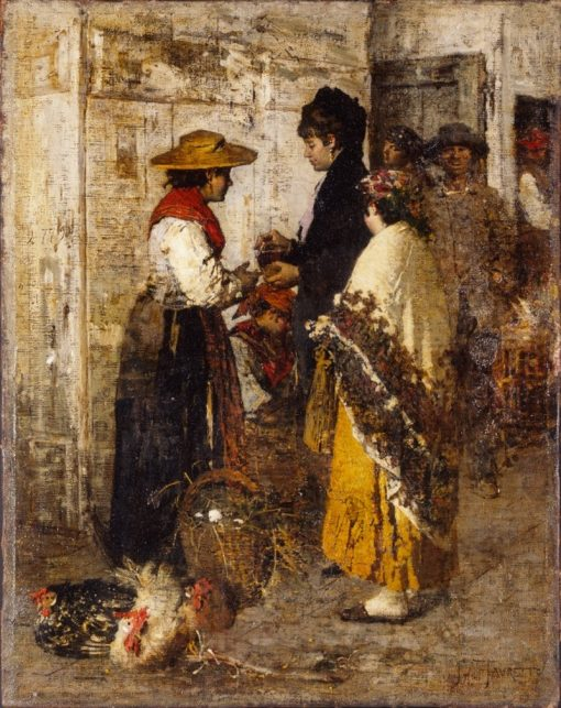 La pollivendola | Giacomo Favretto | Oil Painting