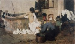 After the Bath | Giacomo Favretto | Oil Painting