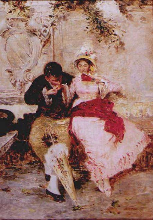 Idyll   Giacomo Favretto   Oil Painting