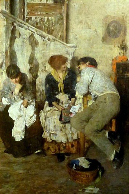 l Terzo Incomodo | Giacomo Favretto | Oil Painting