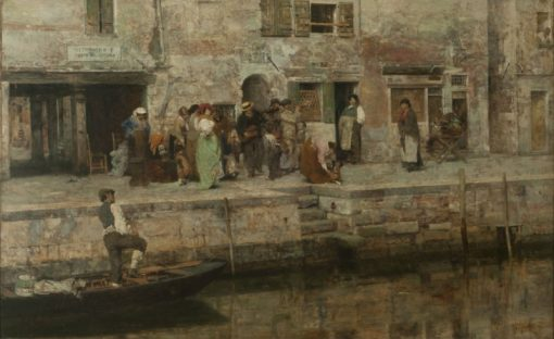 Street Musicians | Giacomo Favretto | Oil Painting