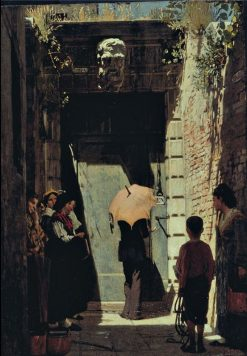 Entrance of a patrician house in Venice | Giacomo Favretto | Oil Painting