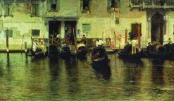 Traghetto della Maddalena | Giacomo Favretto | Oil Painting