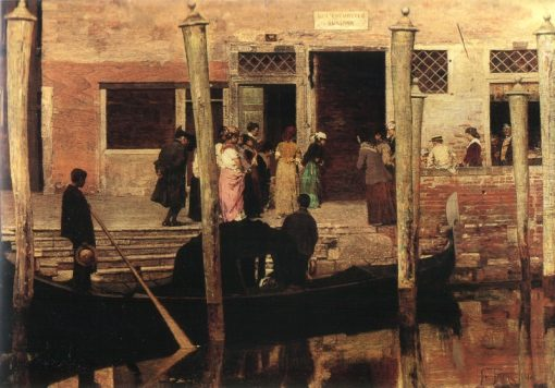 Venice   Giacomo Favretto   Oil Painting
