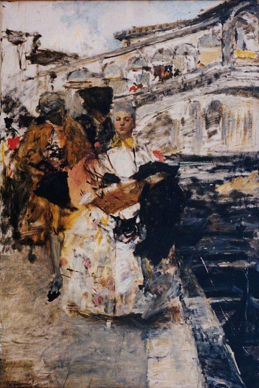 Rialto Bridge | Giacomo Favretto | Oil Painting