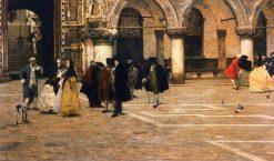 The Promenade | Giacomo Favretto | Oil Painting