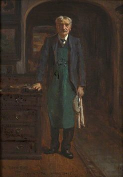 The Butler | George Percy Jacomb-Hood | Oil Painting