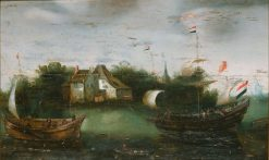 Ships | Hendrick Vroom | Oil Painting