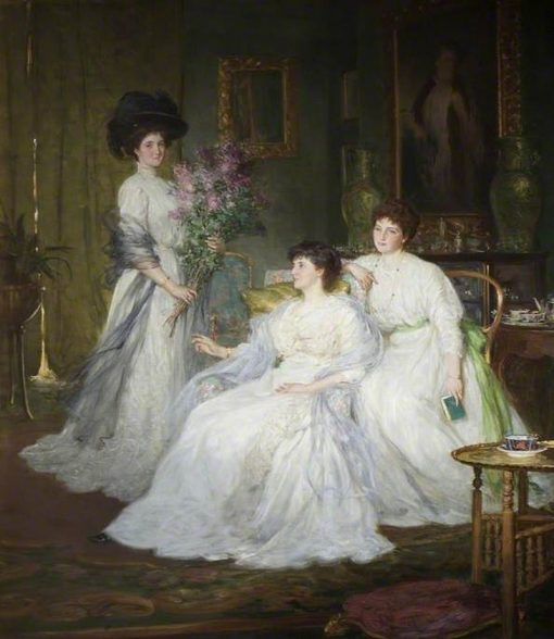 The Deane Sisters   George Percy Jacomb-Hood   Oil Painting