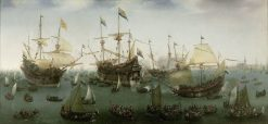 The Return to Amsterdam of the Second Expedition to the East Indies | Hendrick Vroom | Oil Painting