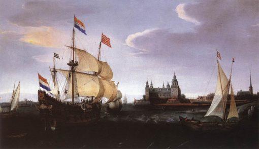 Arrival of a Dutch Three-master at Schloss Kronberg | Hendrick Vroom | Oil Painting
