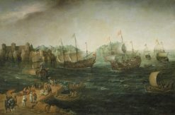 Ships Trading in the East | Hendrick Vroom | Oil Painting