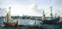 The Harbour in Amsterdam | Hendrick Vroom | Oil Painting