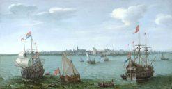 View of Hoorn | Hendrick Vroom | Oil Painting