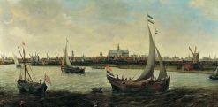 View of Haarlem from the Noorder Buiten Spaarne | Hendrick Vroom | Oil Painting