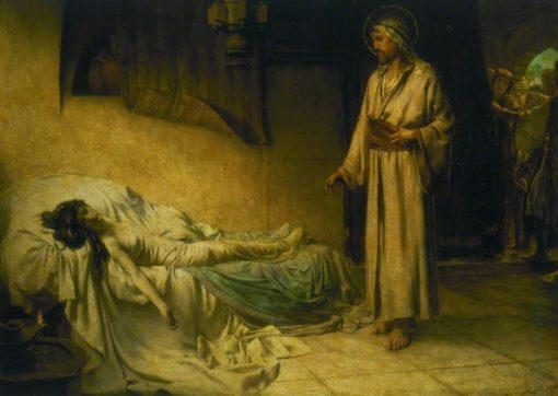 The Raising of Jairus Daughter | George Percy Jacomb-Hood | Oil Painting