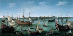 The Arrival at Vlissingen of the Elector Palatinate Frederick V | Hendrick Vroom | Oil Painting