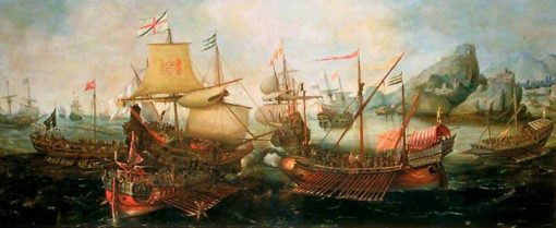 Attack on Spanish Treasure Galleys