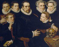 Portrait of a Family | Adriaen Thomasz. Key | Oil Painting