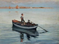 Two Boys in a Boat | George Percy Jacomb-Hood | Oil Painting