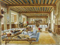 Le Salon Bleu du Chateau de Ste Mesme | Alexandre Serebriakoff | Oil Painting
