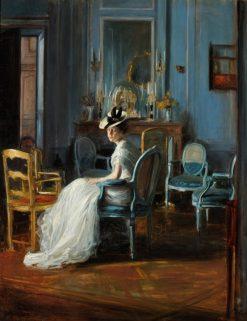 Le Boudoir Bleu | Jacques-Emile Blanche | Oil Painting