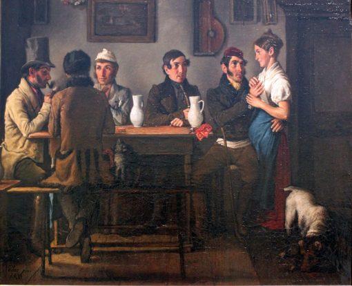 At the Tavern | Johann Michael Neder | Oil Painting