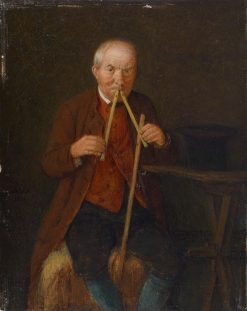 The Flute Player | Johann Michael Neder | Oil Painting