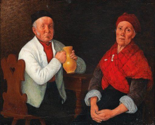 Seated Couple | Johann Michael Neder | Oil Painting
