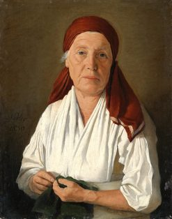 Elderly Woman in a White Blouse | Johann Michael Neder | Oil Painting