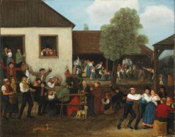 Patronage Fair in the Country | Johann Michael Neder | Oil Painting