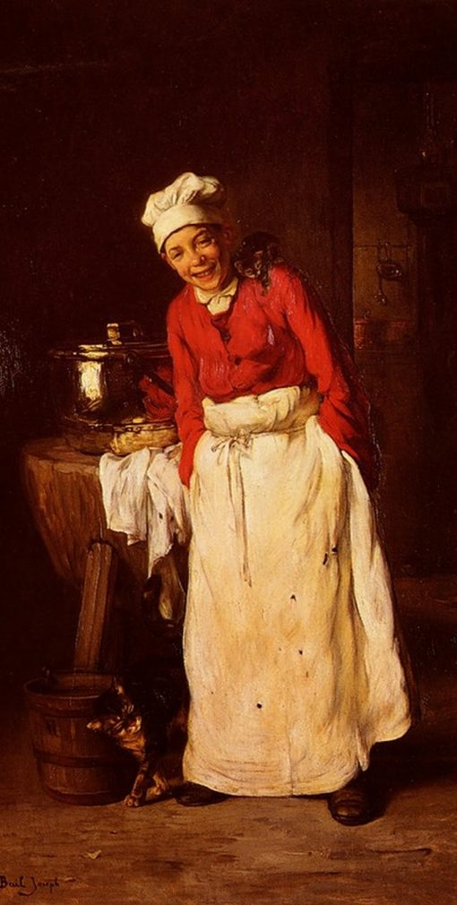 The Little Cook | Claude Joseph Bail | Oil Painting