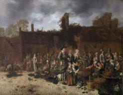 A Village Market | Sybrand van Beest | Oil Painting