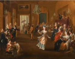 Figures in an Elegant Interior Watching an Entertainment | Claude Gillot | Oil Painting