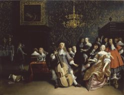 A Merry Company in an Interior   Anthonie Palamedesz   Oil Painting