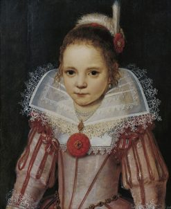 Portrait of a Young Girl in a Pink Dress | Cornelis de Vos | Oil Painting